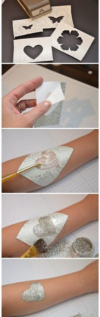 so doing this with the girls... may get some hole punches to make the stencils