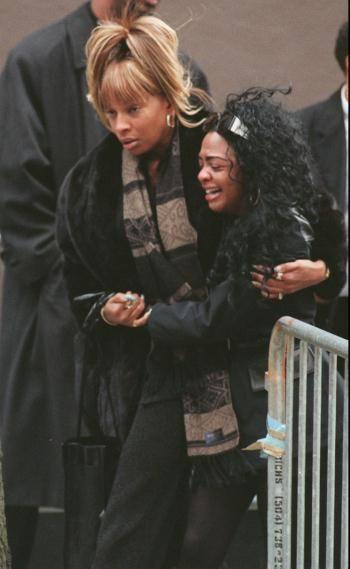 Aaliyah Funeral Notorious big's funeral