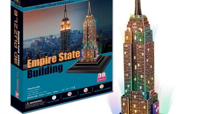 3D Building Jigsaw Puzzles With  LED.