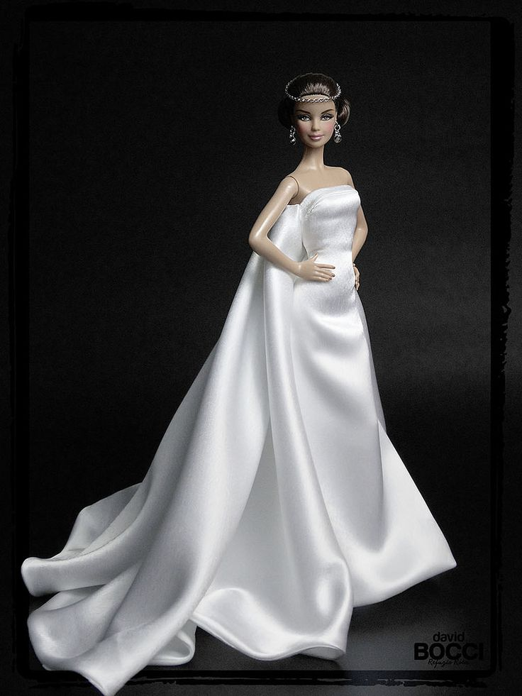 17 best images about wedding dresses for dolls on for Audrey hepburn inspired wedding dress