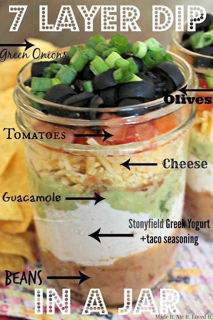 7 layer dip in a jar with @stonyfield and @ball