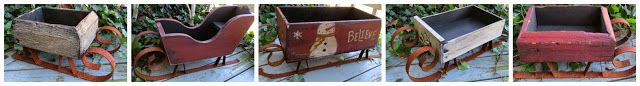 Antique Dresser Drawer Repurposed Primitive Country Christmas Rusty Sleigh Sled | eBay