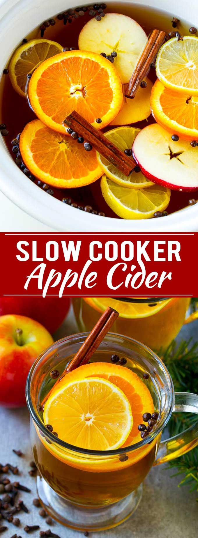 Slow Cooker Apple Cider | Mulled Apple Cider | Crockpot Apple Cider | Apple Cider Recipe with Apple Juice