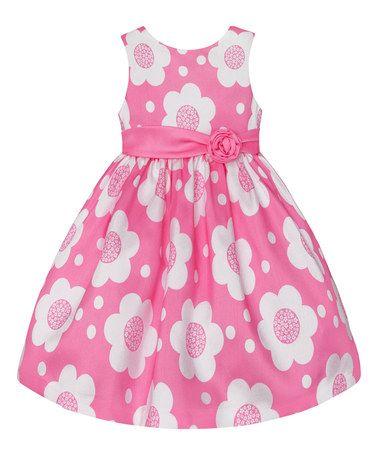 Look at this #zulilyfind! Light Pink Floral Dress - Toddler & Girls #zulilyfinds