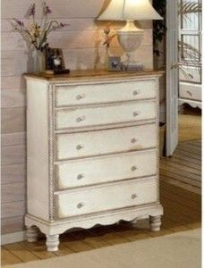 Wilshire 5-Drawer Chest, Antique White - traditional - dressers chests and bedroom armoires - by Walmart