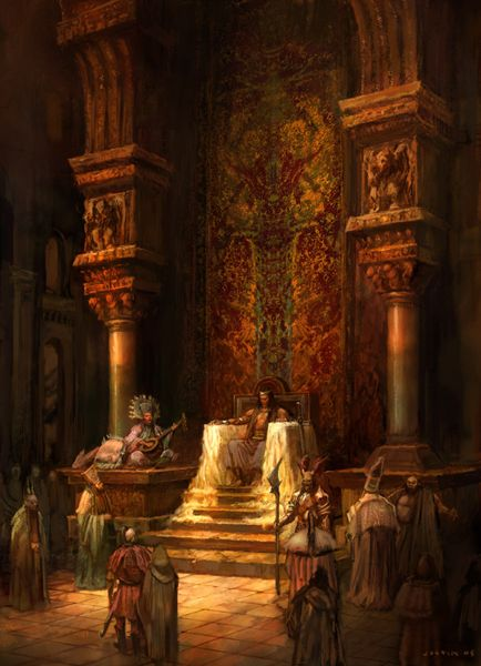 Throne room - love the rich warm color much more than the usual grey tones.