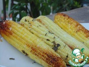 Запеченная кукуруза с базиликовым маслом