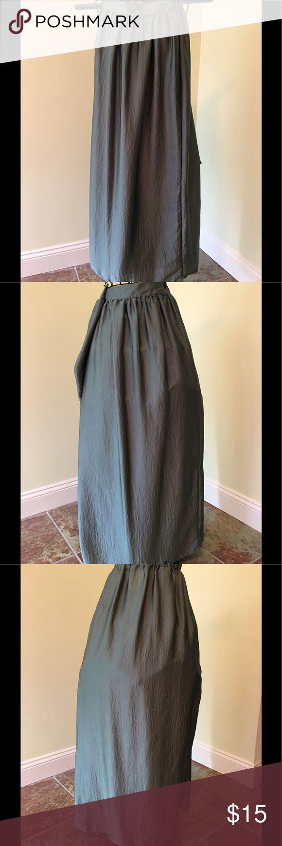 "Massimo Green Shiny satin long skirt For sale a Massimo 40"" long green shiny satin skirt. The skirt is new without tags. massimo Skirts Maxi"