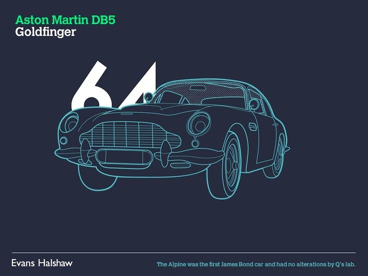 Infográfico mostra os carros de James Bond nos últimos 50 anos » Brainstorm9