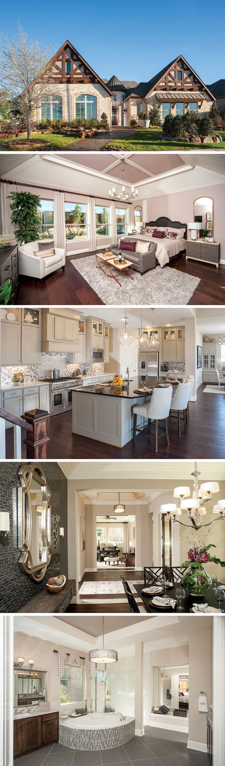 Huge bedroom dream homes pinterest - The Belleview By David Weekley Homes In Windsong Ranch Is A 4 Bedroom 3 Bathroom Home That Features An Open Kitchen Layout Large Wooden Ceiling Beams