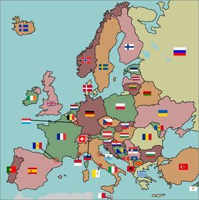 Match the flags to the European country #flags #fun #geography