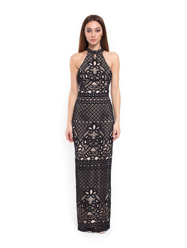Romance The Label - Annabelle Maxi Halter Black
