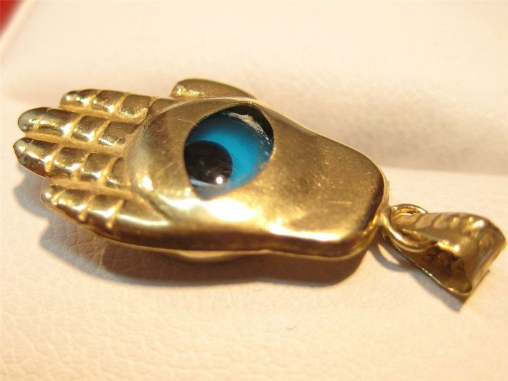 Vintage Gold Evil eye charm