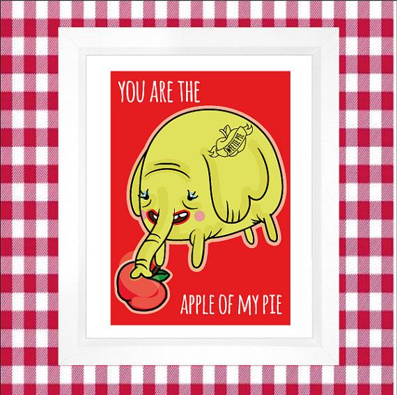 Tree Trunks  Adventure Time Print  Apple Of My by PeanutnJellybean