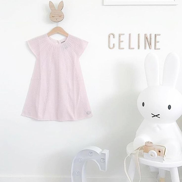 Nameplate with the new woodenletters, in @sandrakra s home 🐰 Buy them online, one letter - 25 DKR