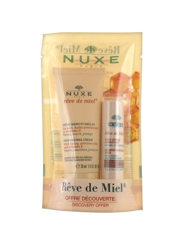 Nuxe Rêve де Миэль Предложение Discovery для рук и ногтей Крем 30ml + губ Увлажняющий Стик 4g € 4,08