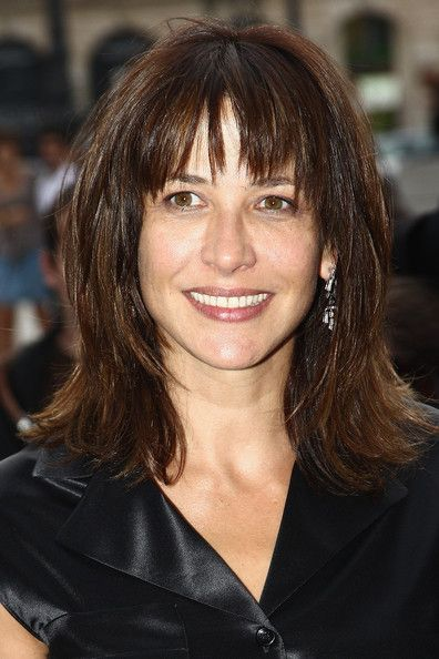 Sophie Marceau Hair - like this layered look with bangs