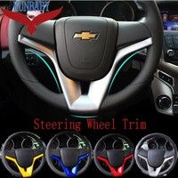 Wish   High Quality ABS Chrome Steering Wheel Trim Interior Frame Decoration Auto Parts For Chevrolet Chevy CRUZE