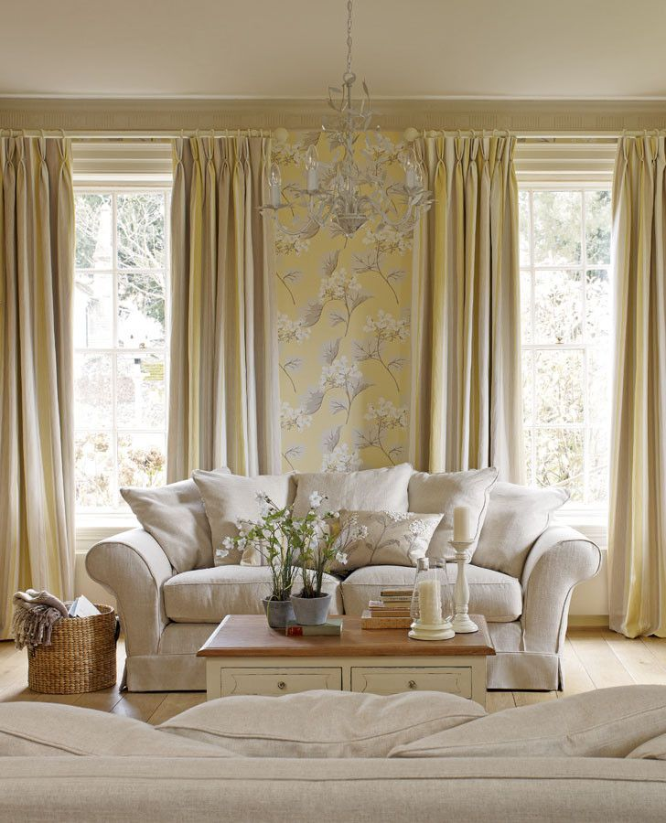 From Laura Ashley · Yellow Cream And Grey Living Room Part 43