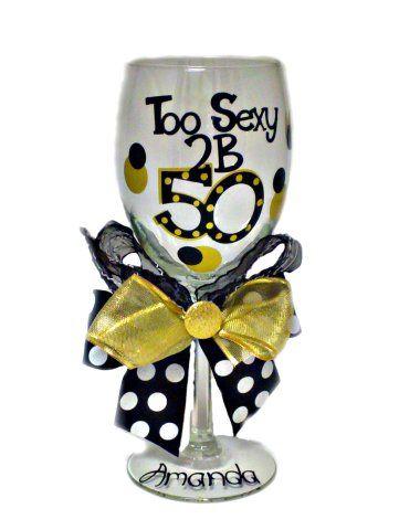 50th Birthday Wine Glass