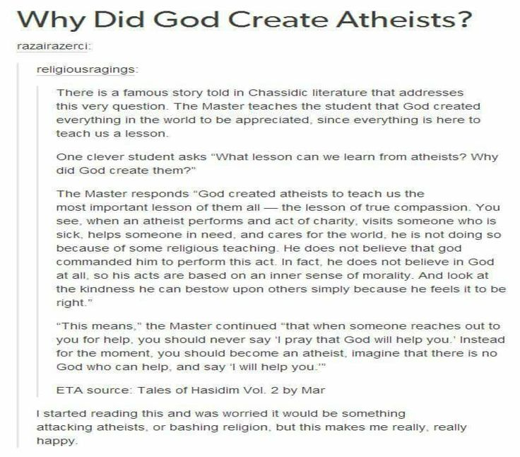 religion and the existence of god in the views of an atheist A debate between a christian and an atheist  because atheists deny outmoded views about god that theists no  had already debated the existence of god with .