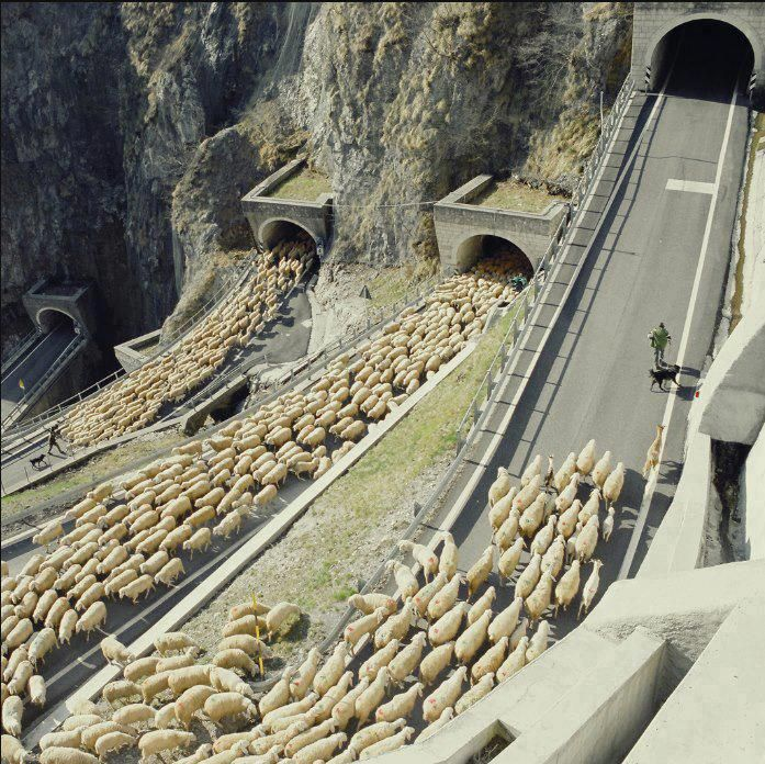 Passo  San Boldo tunnels, Italy.The San Boldo Passs a small mountain pass in the Italian Veneto region between the towns Trichiana (329 m) and Tovena in the Cison di Valmarino regsion