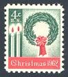 This mint stamp, issued on November 1, 1962, is the first Christmas stamp issued by the United States.