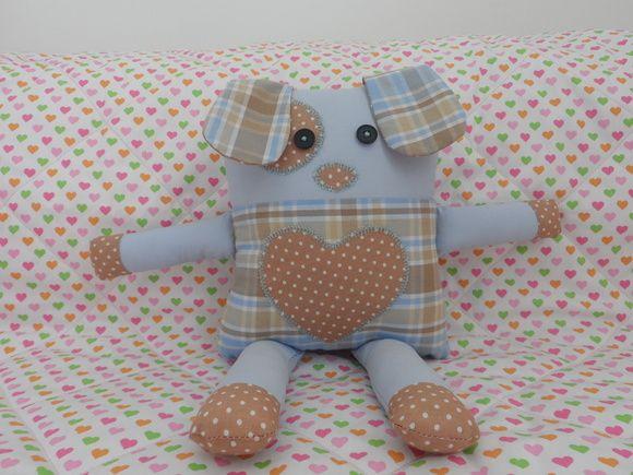 Lindos mascotinhos para crianças também podem ser usadas como naninhas pelos bebês. R$ 55,00