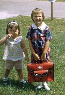 First Day of School - 1966 I got A  new book bag every new school year.