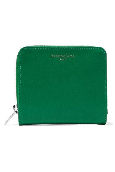 Balenciaga - Textured-leather Wallet - Green