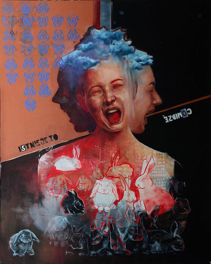 '''Istnieje to co widze'' Angelika Korzeniowska, olej na płótnie, 110 x 130 cm, 2014 r