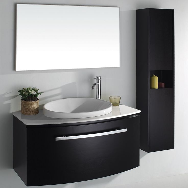 Captivating bathroom vanities with white wall paint color for Dark paint colors for bathroom vanity
