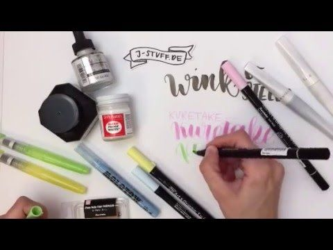 #letterattack Lettering Lessons - Lettering Shopping Haul (j-stuff, neuland…