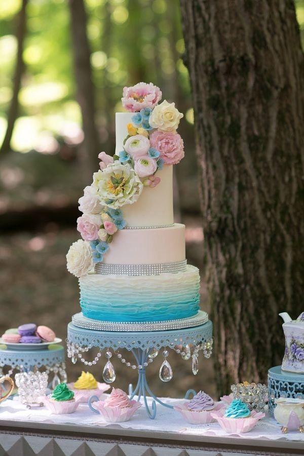 Ombre Cake By Jolirosecakes Cakes Dessert Tables Pinterest And Wedding