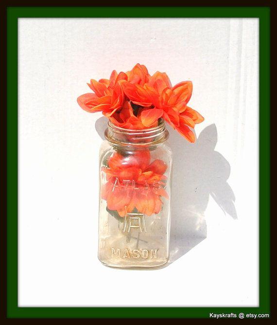 Hazel Atlas Mason Vintage Quart Jar Collectible Canning Jar