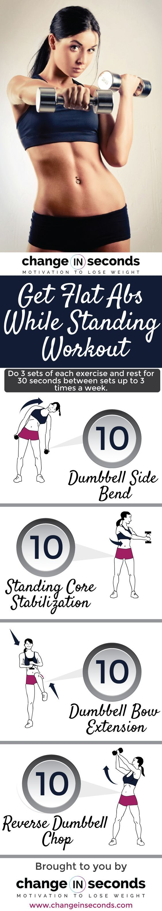 Get Flat Abs While Standing Workout http://www.changeinseconds.com/get-flat-abs-while-standing-workout/