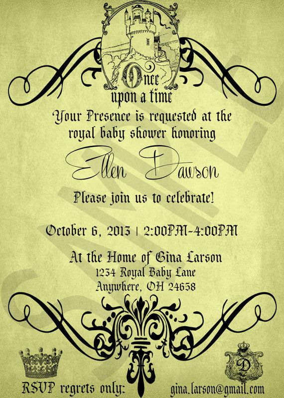 Once Upon A Time Baby Shower Invitation For By EventsYouCanPrint, $10.00