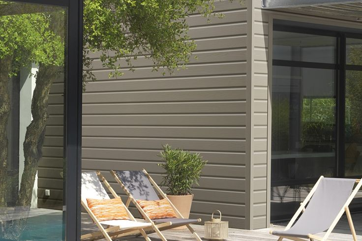 17 meilleures images propos de maison version bois sur for Facade couleur taupe