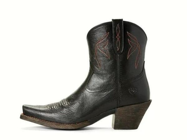 be261890980 ARIAT WOMEN'S LOVELY SHORT BOOTS in JACKAL BLACK | Women's Western ...
