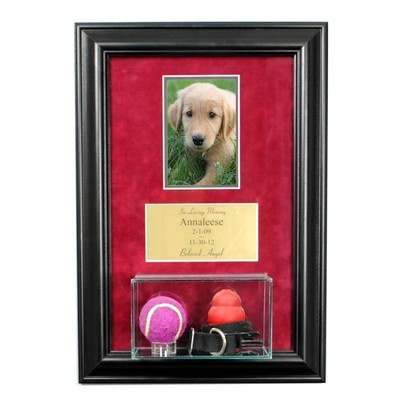 Pet Memorial Picture Frame with Eng and Display Case Dog Memorial Cat Memorial | eBay