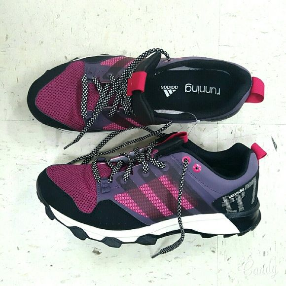 adidas shoes pink and purple. adidas running shoes **price firm** new kanadia tr7. pink and purple