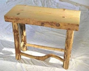 Pine Log Furniture Table Makes A Nice Accent Piece In A Rustic Log .