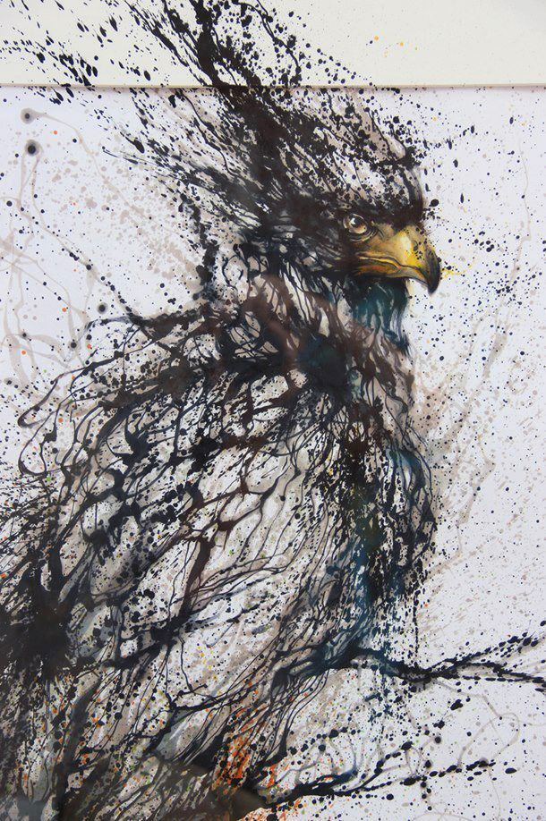 OH YEAH!  Ink Painting by Hua Tunan