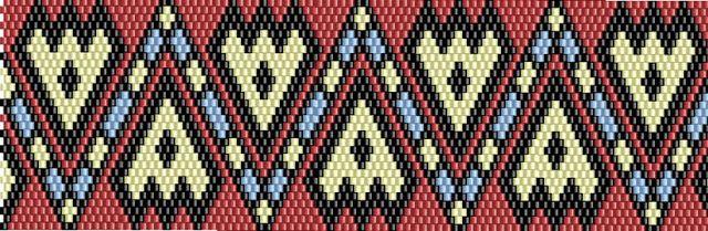 схема бисерного браслета:
