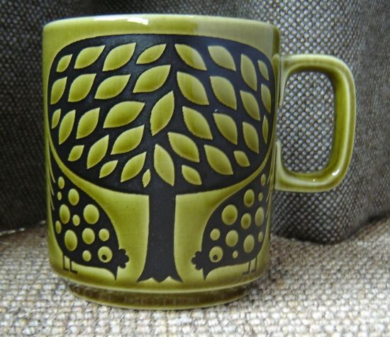 Beautiful 1970s Hornsea mug designed by John Clappison