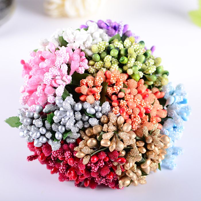 Find More Decorative Flowers & Wreaths Information about 144PCS Multicolor Pip Berry Flower For Wedding Candy Cake Box Scrapbook Decors Artificial floral pistil stamen W/Wire Stem,High Quality flower halo,China flower Suppliers, Cheap berry decoration from Royal Crafts on Aliexpress.com