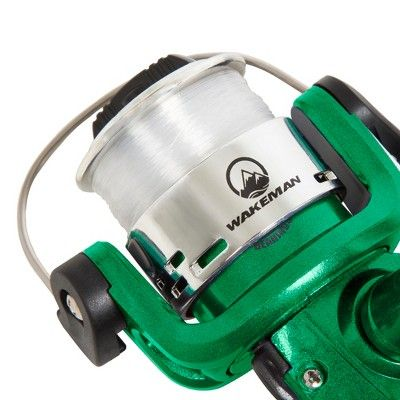Wakeman Fishing Rod Spinning Rod and Reel Combo - Green Metallic Swarm Series