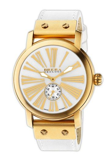 beautiful Brera #gold faced watch http://rstyle.me/n/krg3dr9te