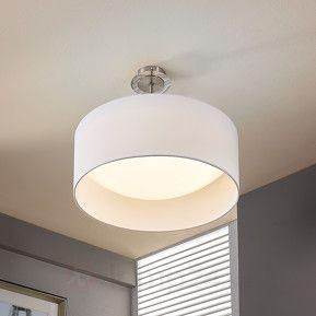 http://www.lamp24.se/Vit-LED-taklampa-Franka-av-tyg.html