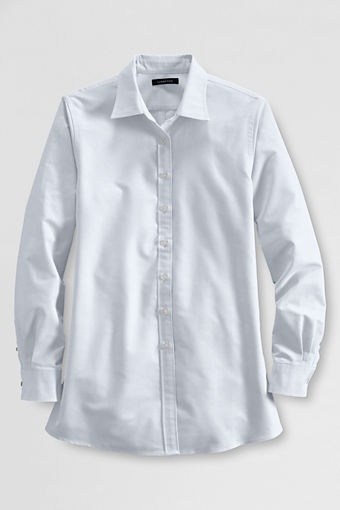 Women's Maternity Straight Collar Oxford Shirt from Lands' End